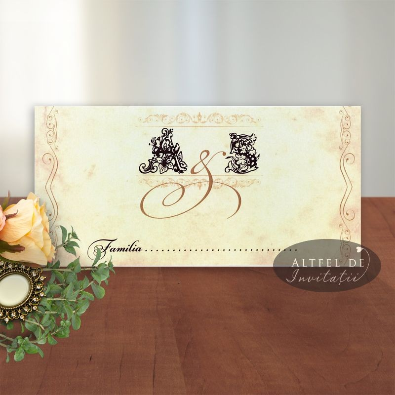 Place card Mesaj handmade