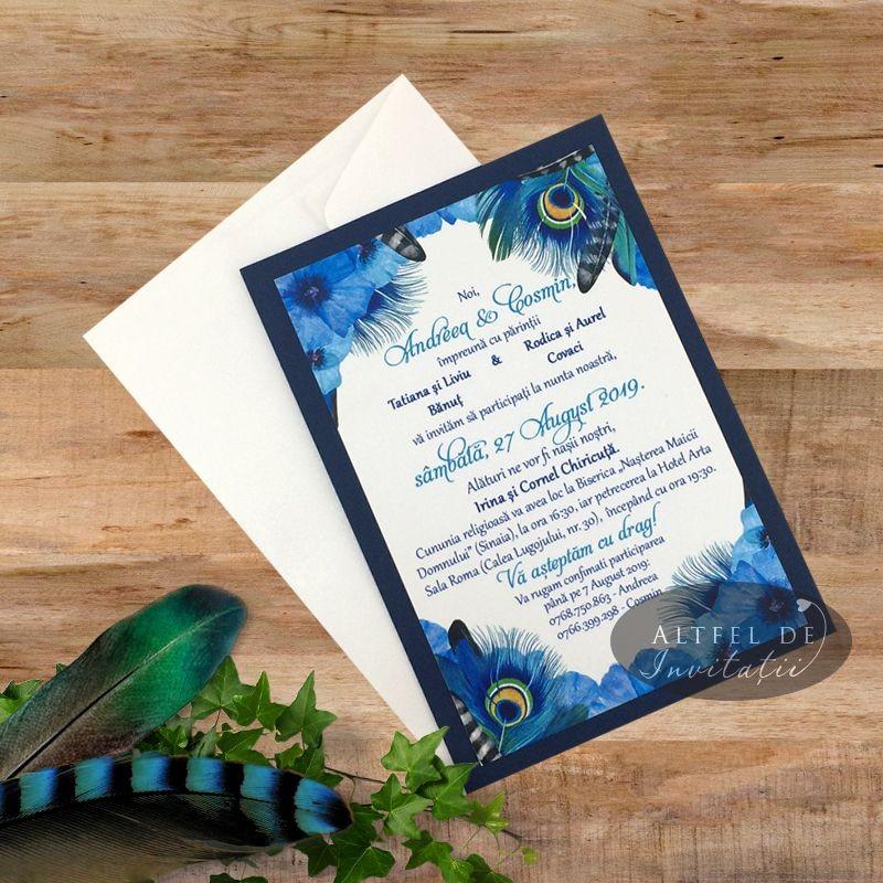 Invitatie nunta Usor ca o pana