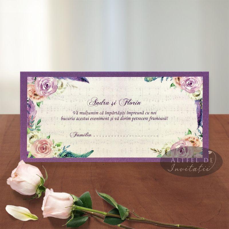 Place card nunta Te-am gasit