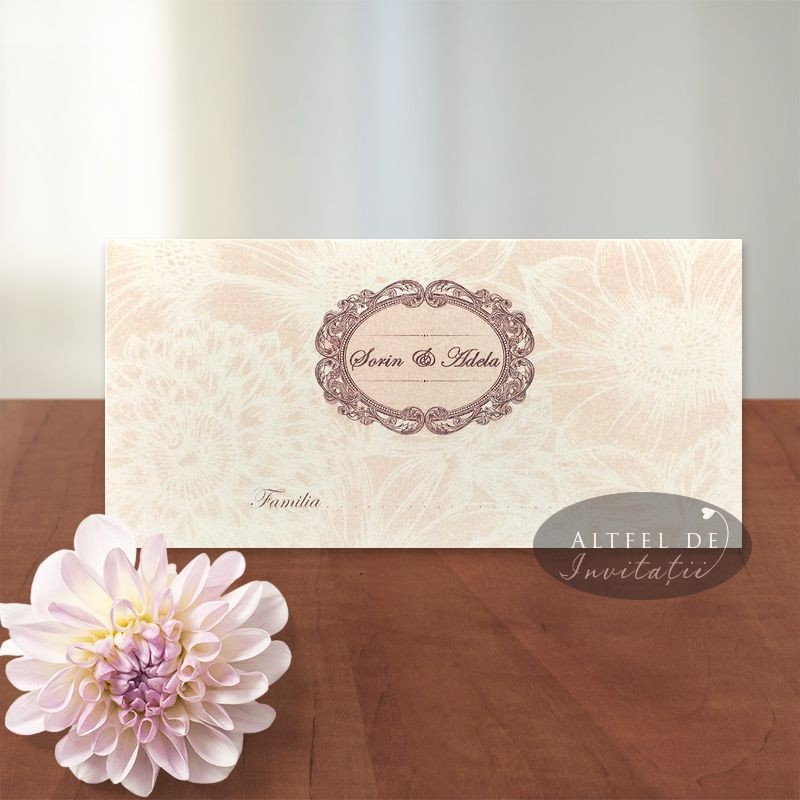 Place card Sclipiri de diamant clasic