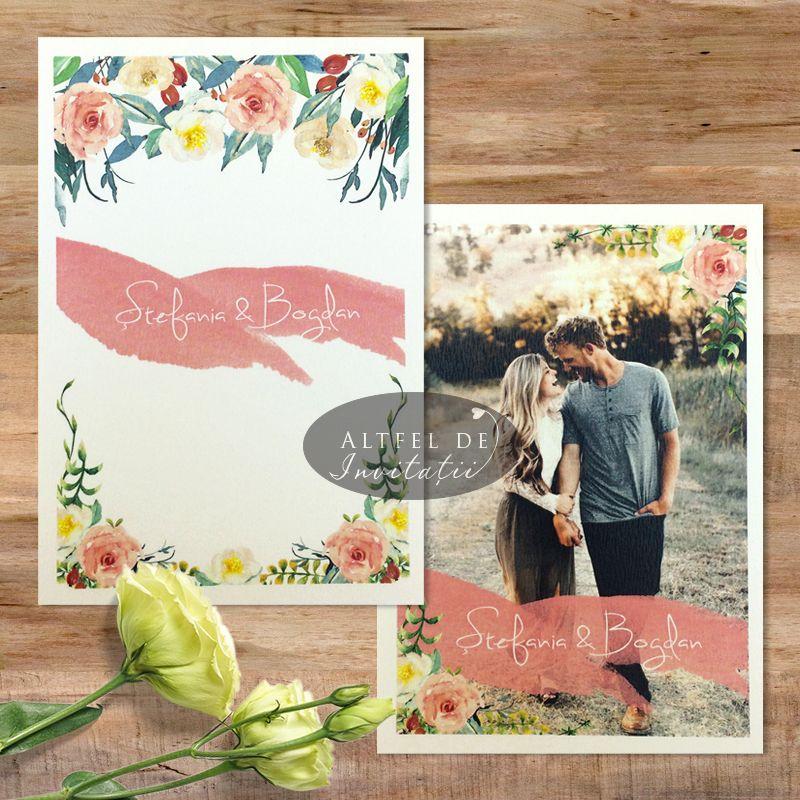 Invitatie Nunta Cu Poza Mirilor