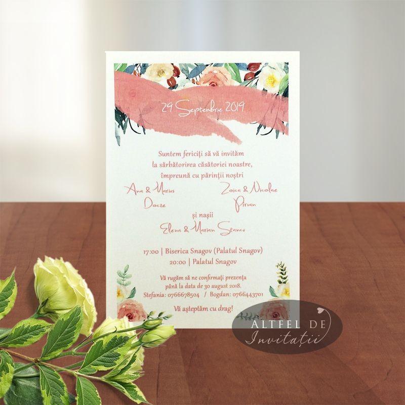 Invitatie nunta Poza dragostei 031 clasic