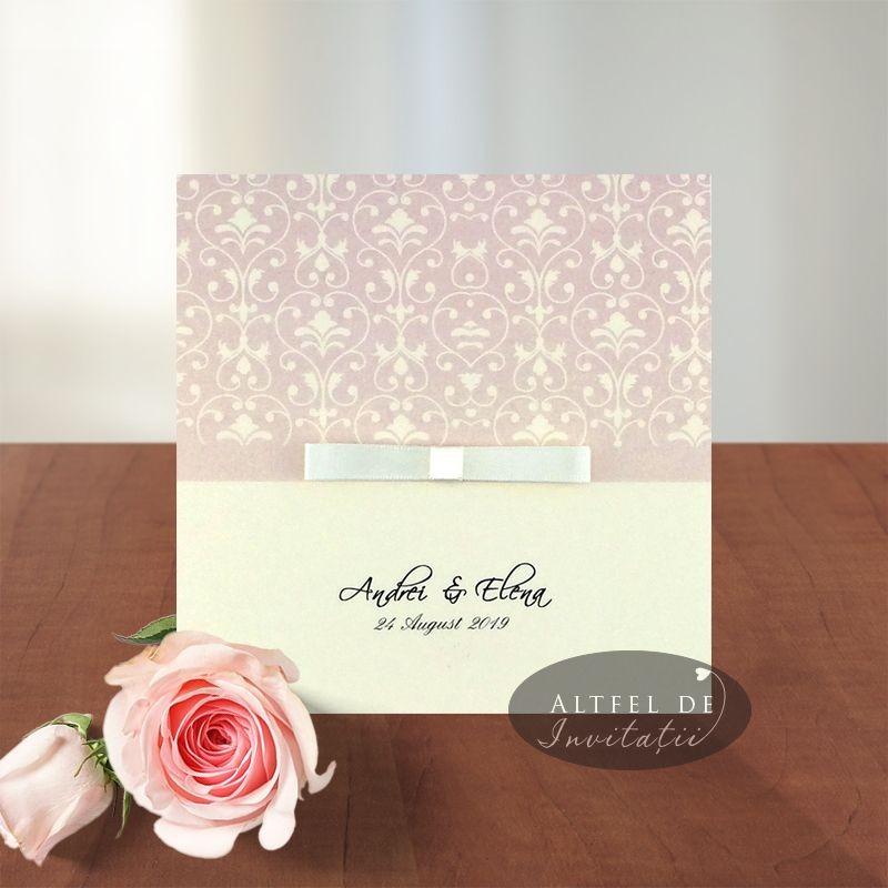 Invitatii nunta Delicii crem sidefat