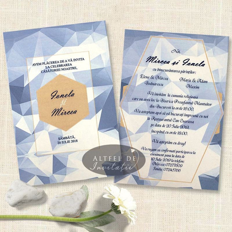 Invitatie nunta Inima de gheata