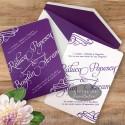 Invitatie nunta Univers lila mov