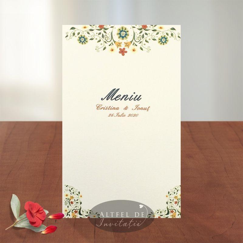 Meniu nunta Florile dragostei