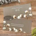 Place card Flori de bumbac