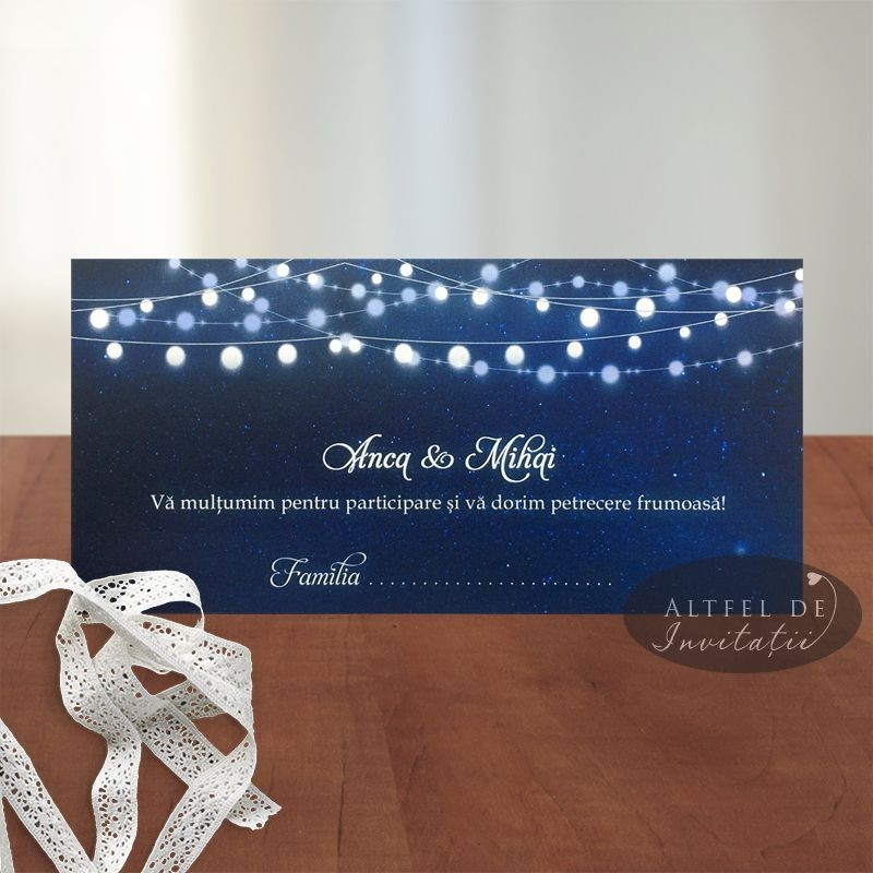 Place card Cer instelat