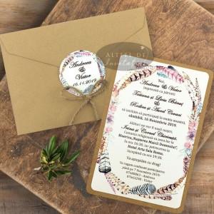 Invitatie nunta Rafinament rustic
