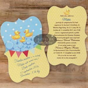 Invitatii botez Familie fericita B06