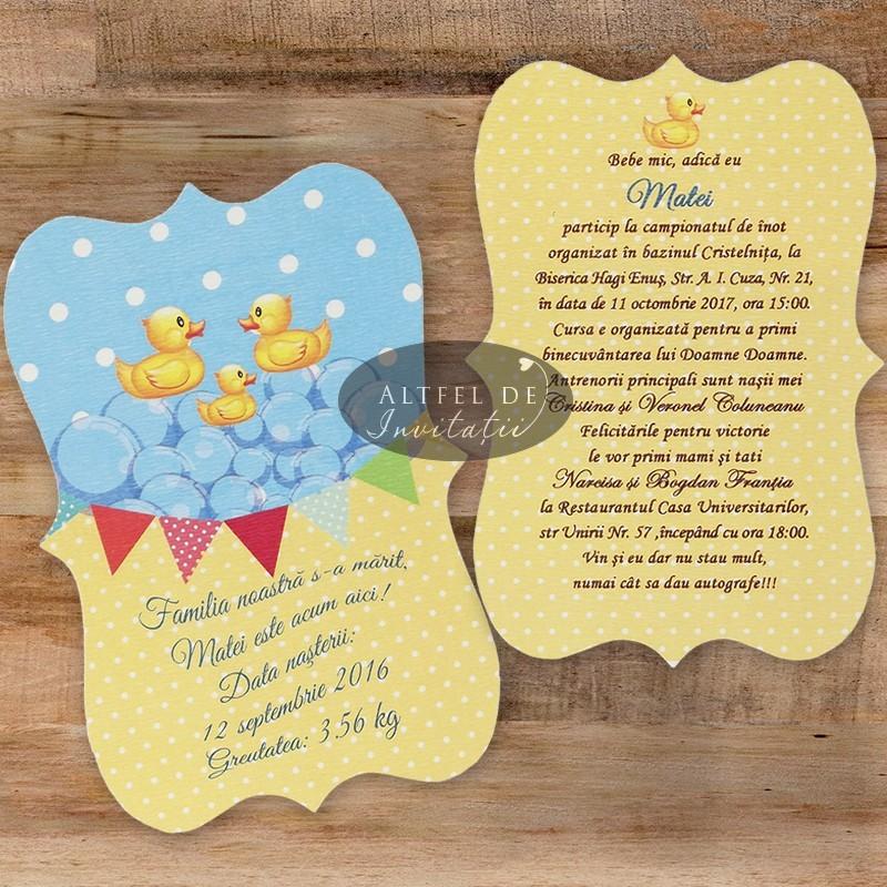 Invitatie botez Familie fericita cod: B06