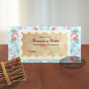 Place card Retro chic
