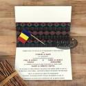 Invitatie nunta Hora romaneasca cu stegulet