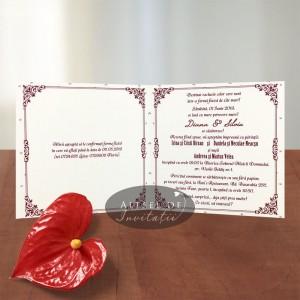 Invitatie nunta Schita portret