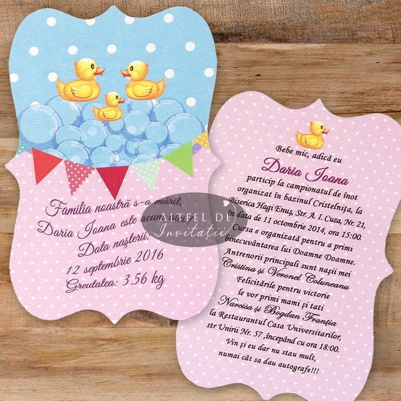 Invitatii botez Familie fericita cod: F06