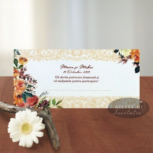 Place card Buchet spumos