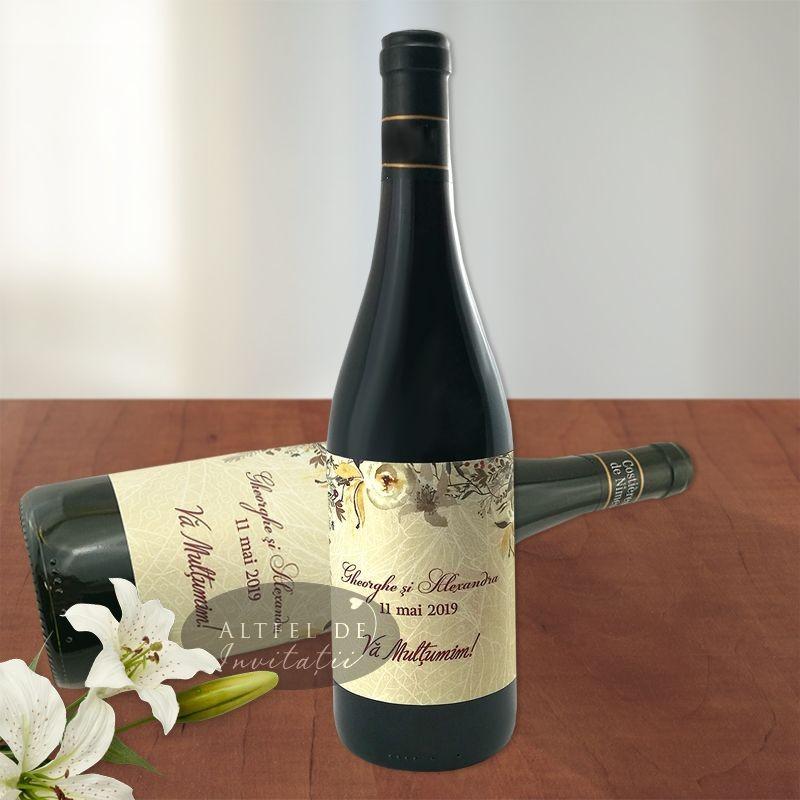 Eticheta marturie pentru sticla de vin Dragoste la prima vedere