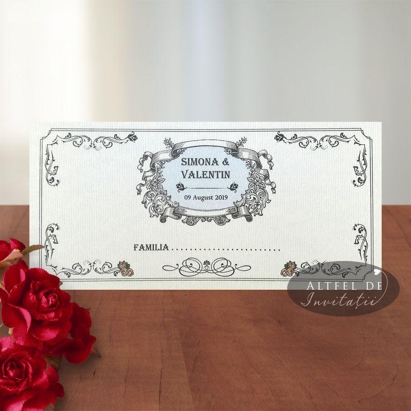 Place card nunta Motorul iubirii