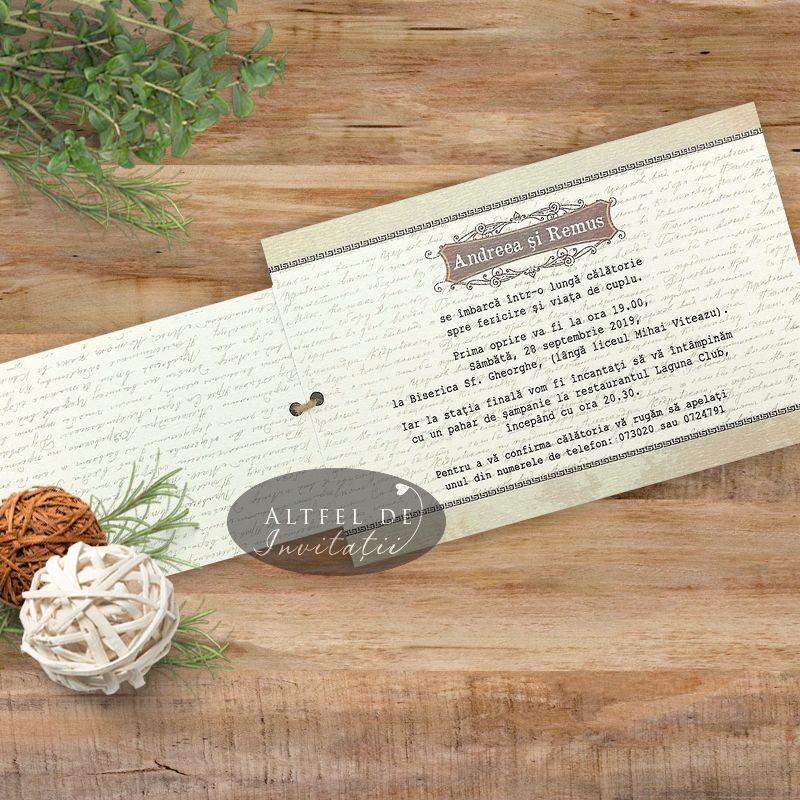 Invitatie nunta Expresul dragostei