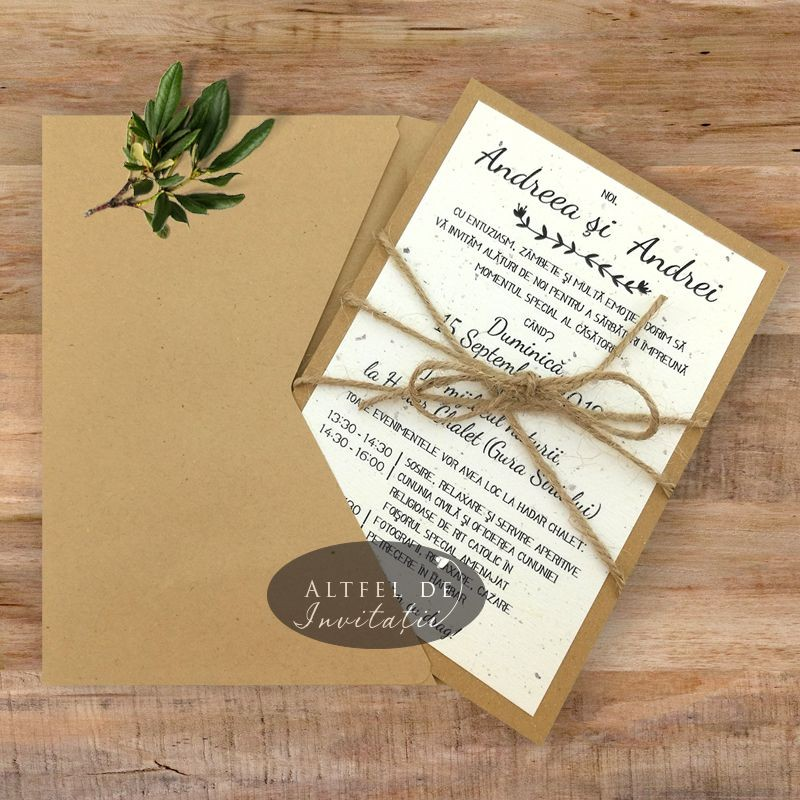Invitatie nunta Destine legate cu plic