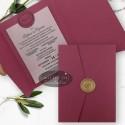 Invitatie nunta Sigiliul timpului marsala