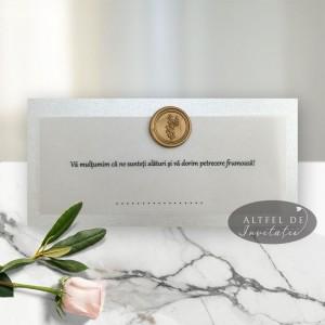 Place card Sigiliul timpului argintiu