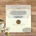 Invitatie nunta Serenitate transparenta cu sigiliu