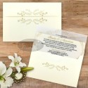 Invitatie nunta Serenitate transparenta fara sigiliu