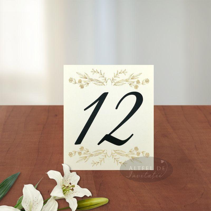 Numar de masa Serenitate transparenta carton special