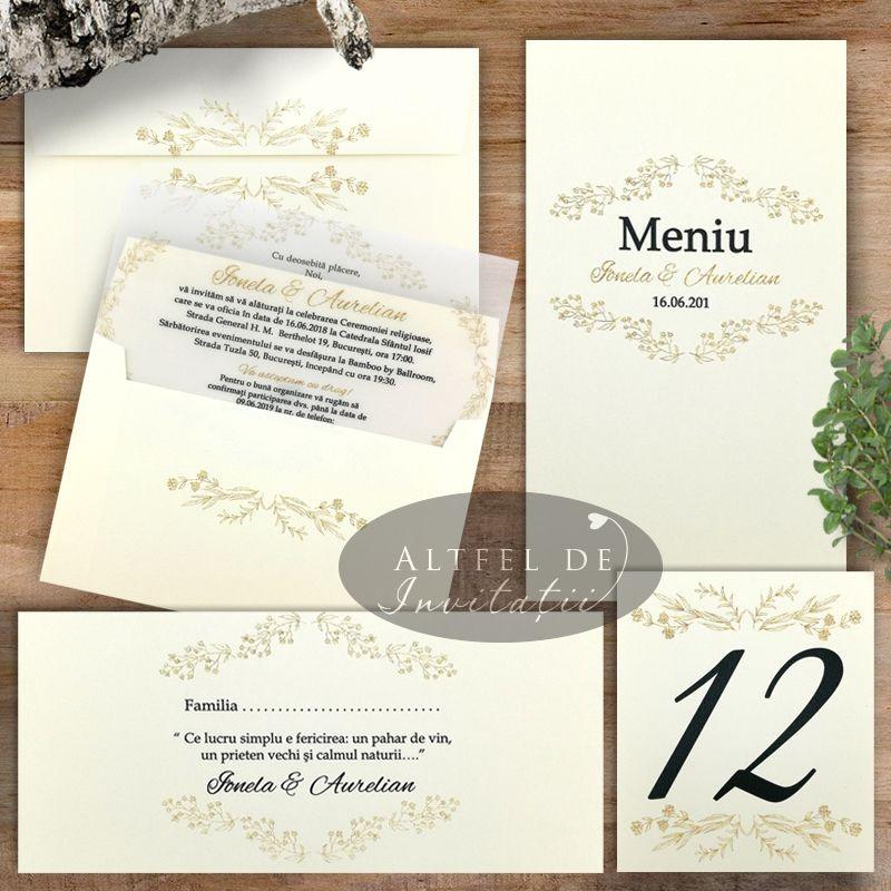 Set complet nunta Serenitate transparenta carton special
