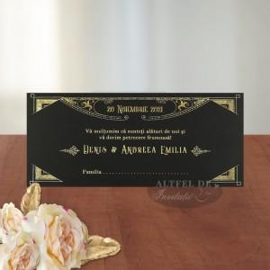 Place card nunta Art Nouveau