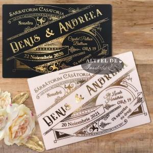 Invitatie nunta Art Nouveau