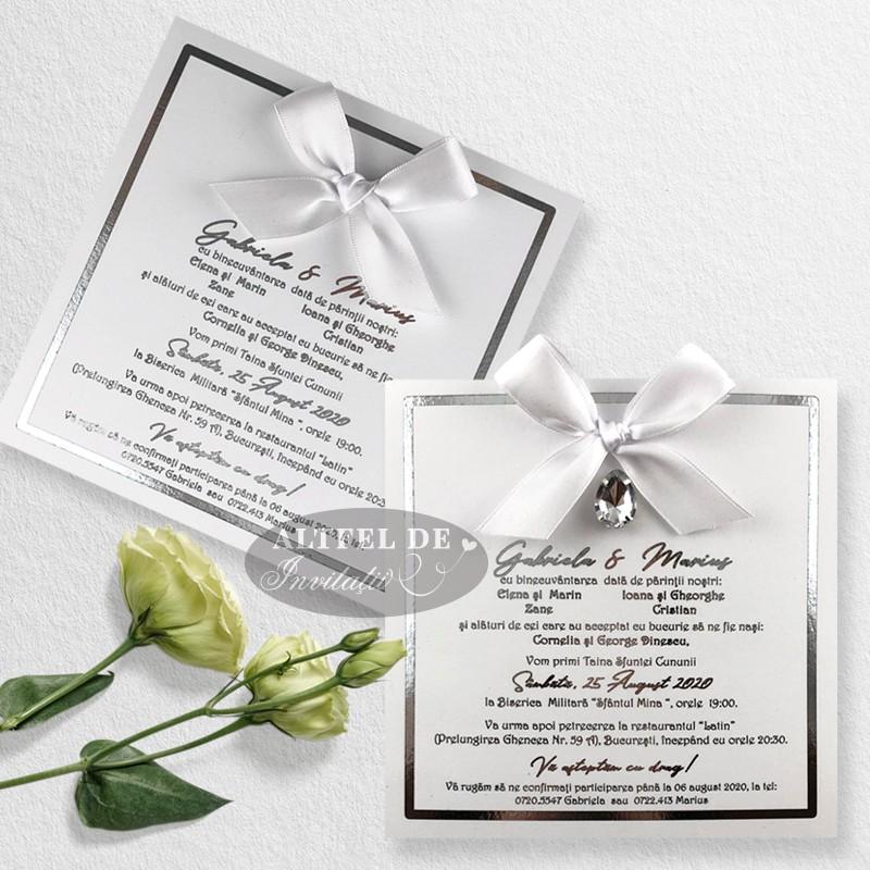 Invitatie de nunta Privirea ta cu cristal sau fara