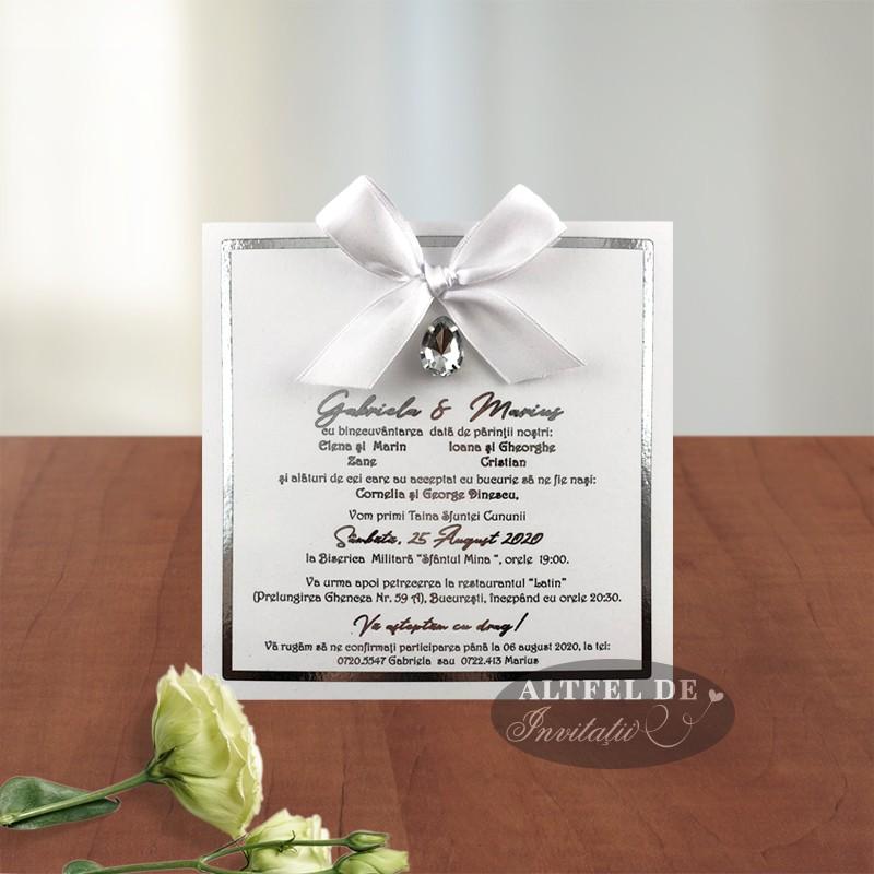 Invitatie de nunta Privirea ta cu cristal stalucitor