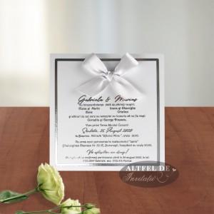 Invitatie de nunta Privirea ta cu fundita