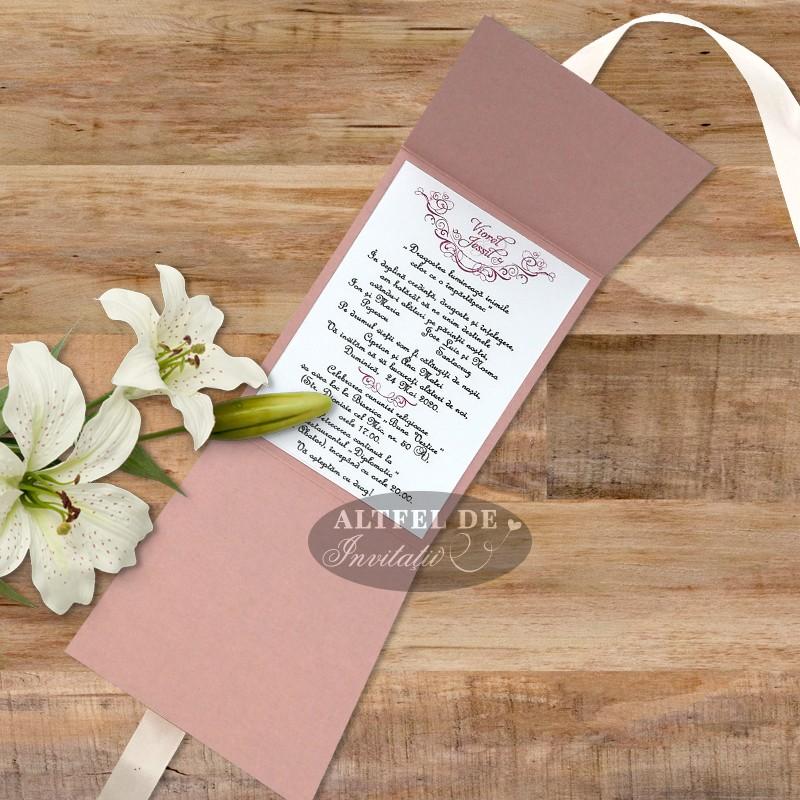 Invitatie de nunta Flori imbujorate