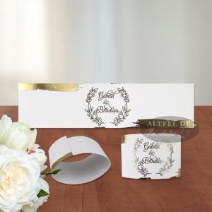 Inel servet coordonat cu invitatiile de nunta