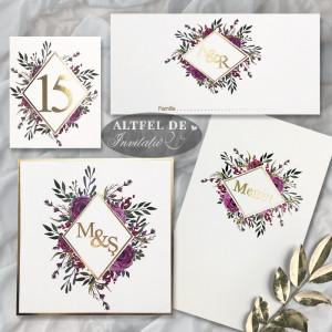 Set complet monograma cu stil - flori