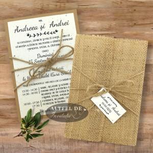 Invitatie nunta Destine legate - cu plic sau cu iuta