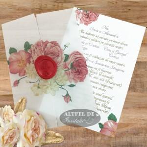 Invitatie nunta Trandafiri...