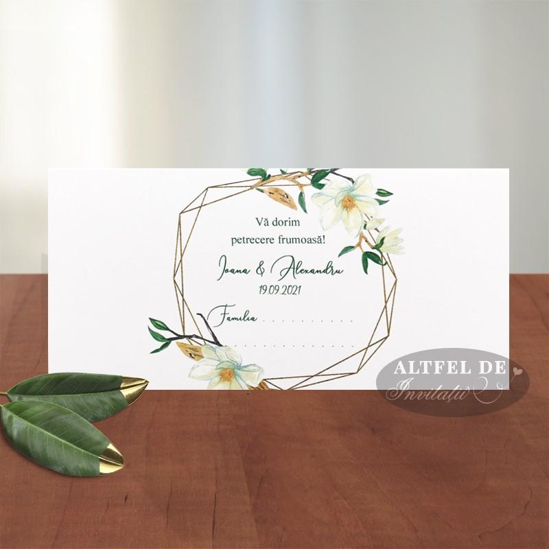 Place card nunta Parfum de magnolie