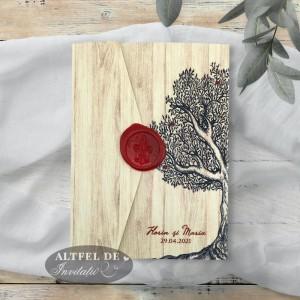 Invitatii de nunta Copacul dragostei