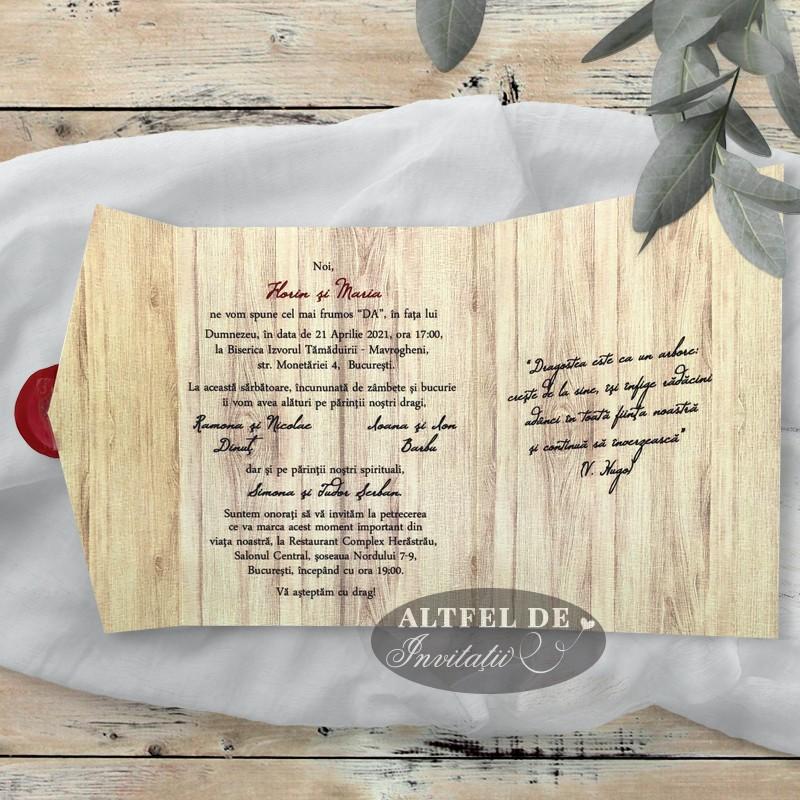 Invitatii nunta Copacul dragostei