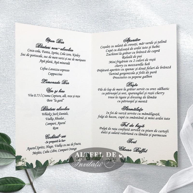 Meniu nunta la hambar