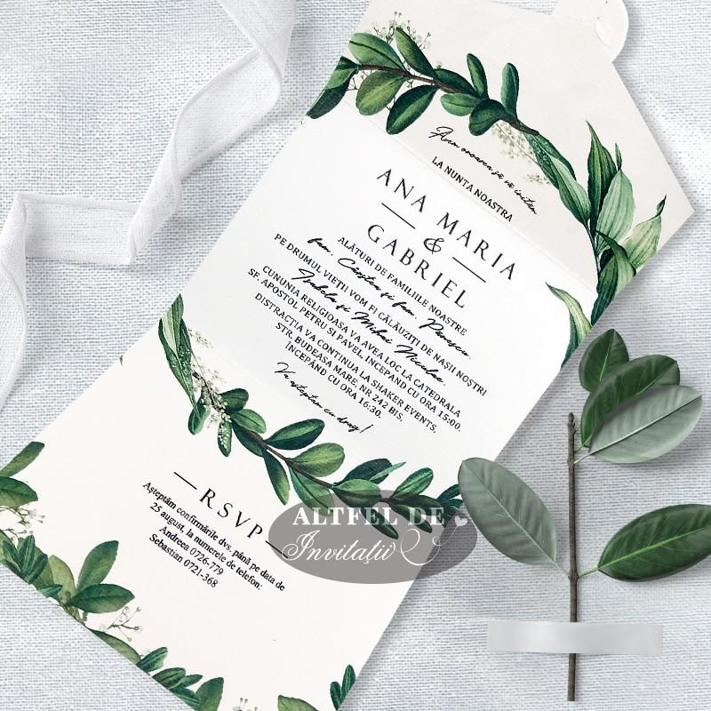 invitatii nunta la hambar