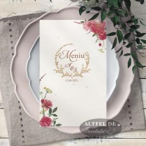 Meniu de nunta Vise si Dorinte cu flori
