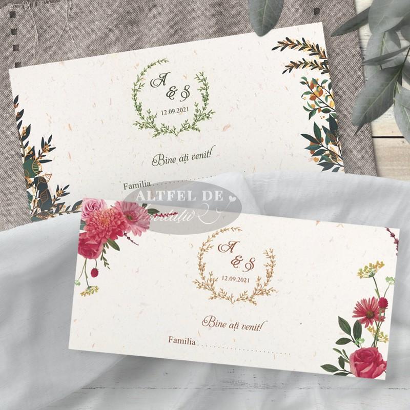 Place card nunta - plic de bani Vise si Dorinte
