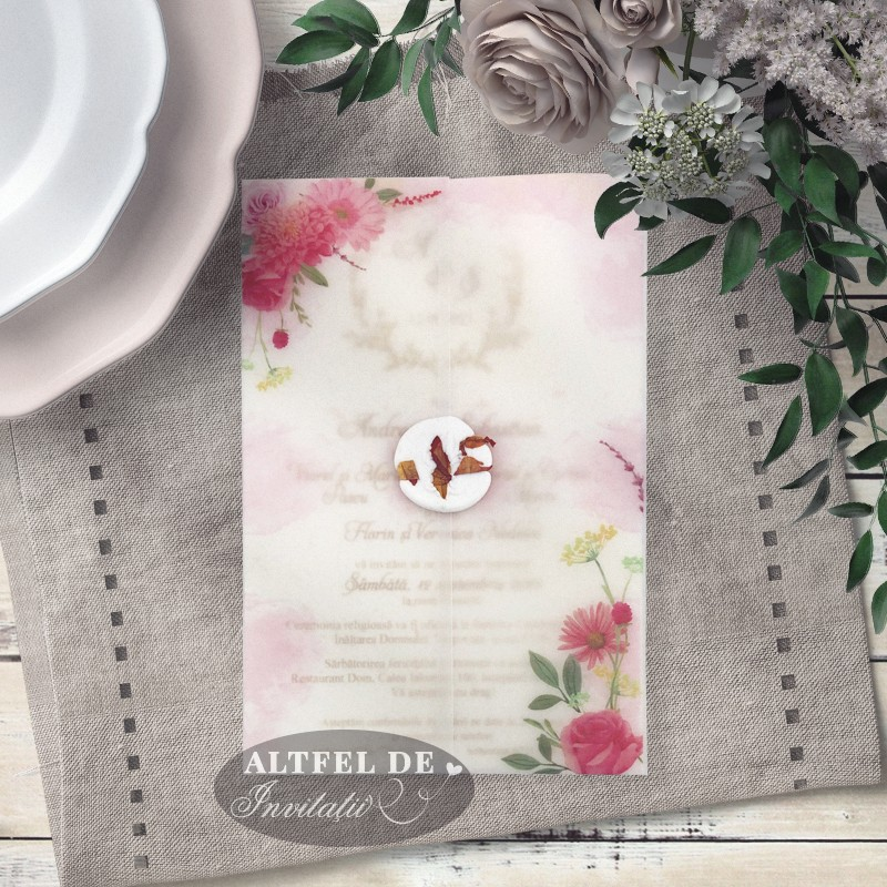 Invitatie nunta Vise si dorinte cu flori