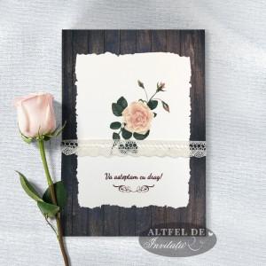 Invitatie de nunta Romantica - spate