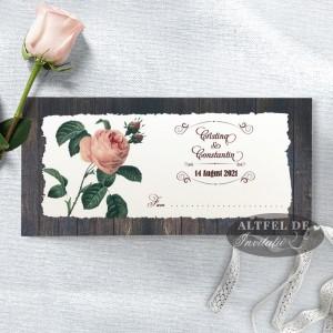 Plic de bani nunta Romantica
